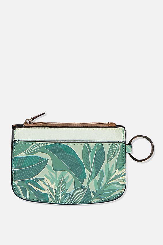 Fashion Coin Purse, BONDI FOLIAGE MIX COIN & CARD COMBO