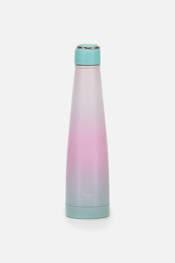 Triangle Metal Drink Bottle, OMBRE