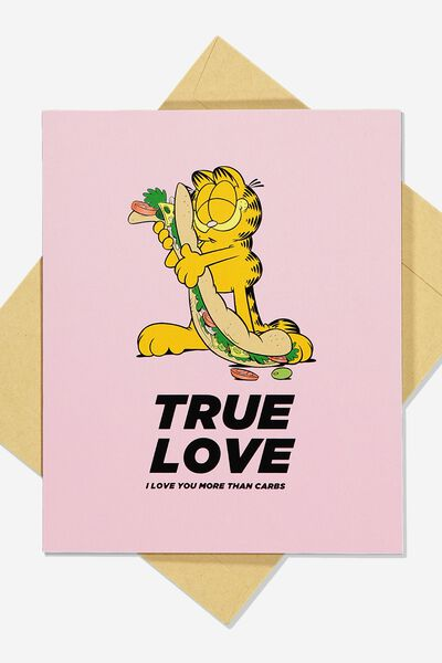 Funny Birthday Card, LCN GAR TRUE LOVE CARBS