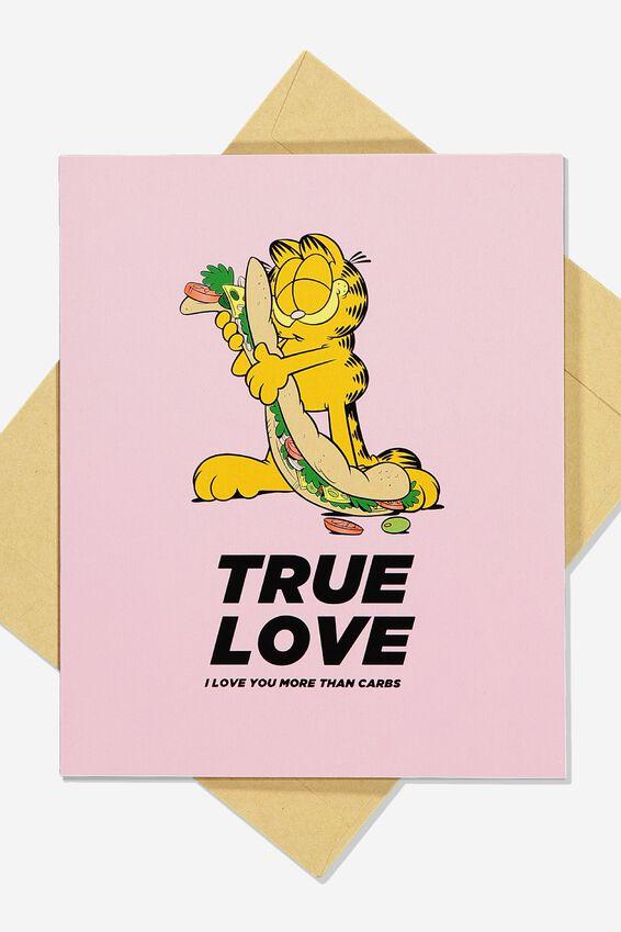 Garfield Funny Birthday Card, LCN GAR TRUE LOVE CARBS