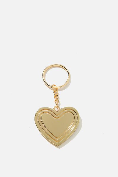 Alphabet Keyring, GOLD GRID HEART