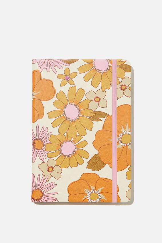 A5 Buffalo Journal, PR STEVIE FLORAL PINK ORANGE