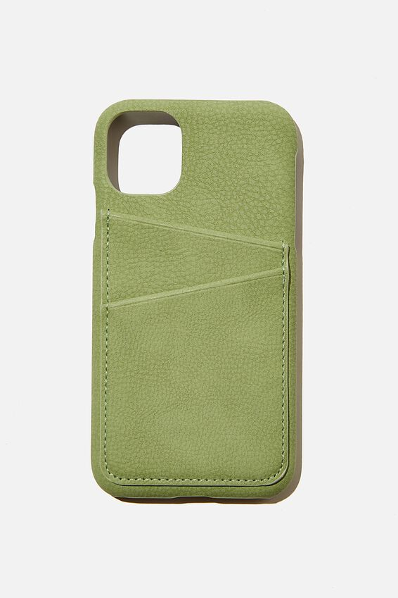 Cardholder Phone Cover Iphone 11, ALLY GREEN