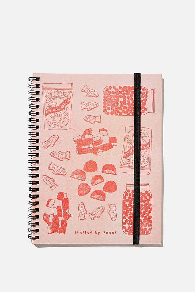 A5 Spinout Notebook Recycled, RG NZ FUELLED BY SUGAR
