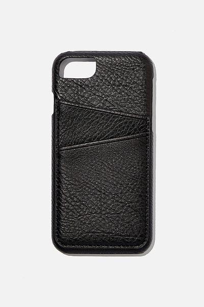 The Phone Cardholder SE, 6,7,8, BLACK PEBBLE