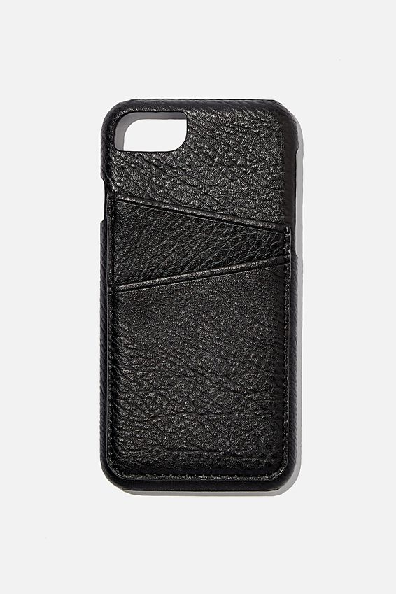 The Phone Cardholder SE, 6,7,8, BLACK PEBBLE