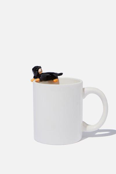 Novelty Shaped Mug, MINI ROTWEILER