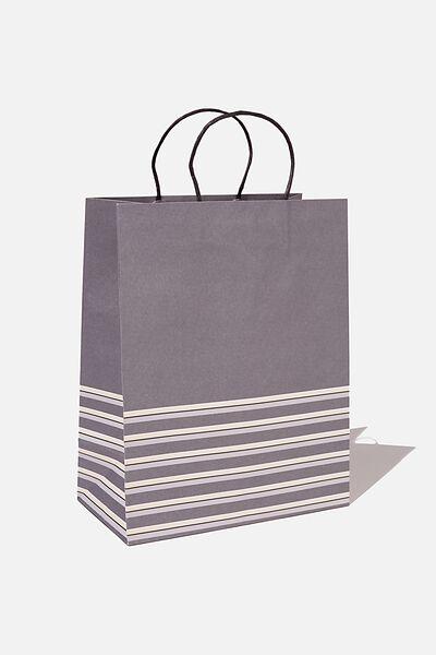 Get Stuffed Gift Bag - Medium, SLATE MULTI STRIPE