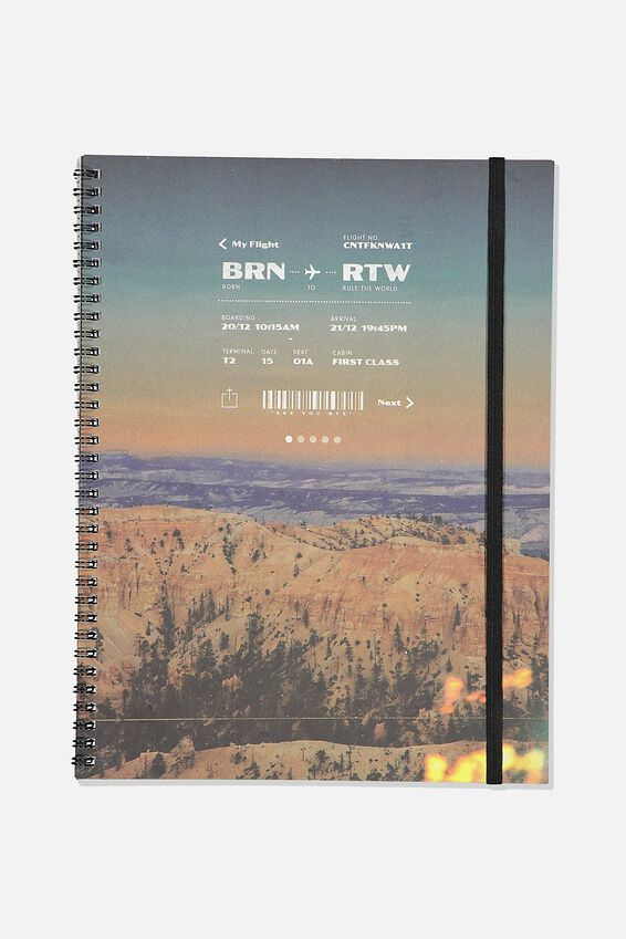 A4 Spinout Notebook Recycled, MY FLIGHT