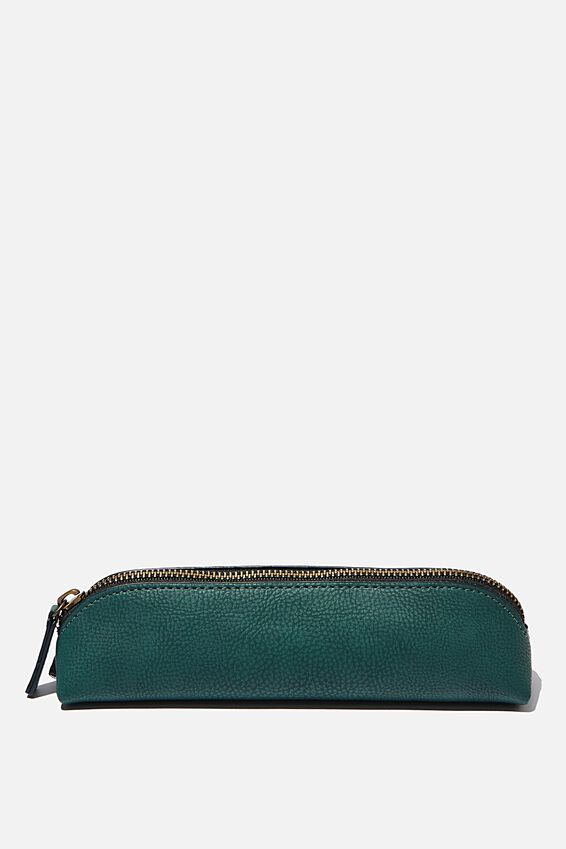 Buffalo Barrel Pencil Case, DEEP GREEN