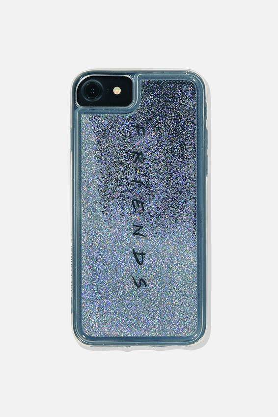 Friends Shake It Phone Case Universal 6,7,8, LCN WB FRIENDS SILVER GLITTER 19