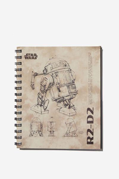 A5 Campus Notebook Recycled, LCN LU STAR WARS R2D2 TIE DYE