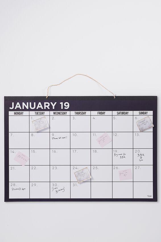 2019 A1 Wall Calendar, NAVY