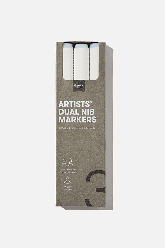 Artists Dual Nib Marker 3Pk, COLOURLESS BLENDER