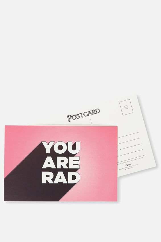 Postcard, YOU ARE RAD