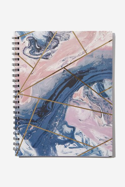 College Ruled Campus Notebook - V, MOODY MARBLE