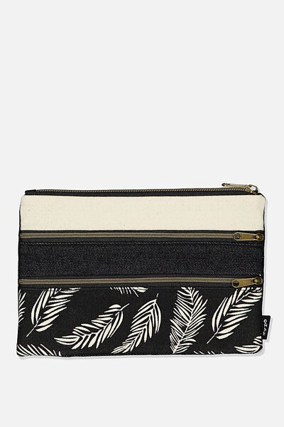 Double Archer Pencil Case, FERNERY