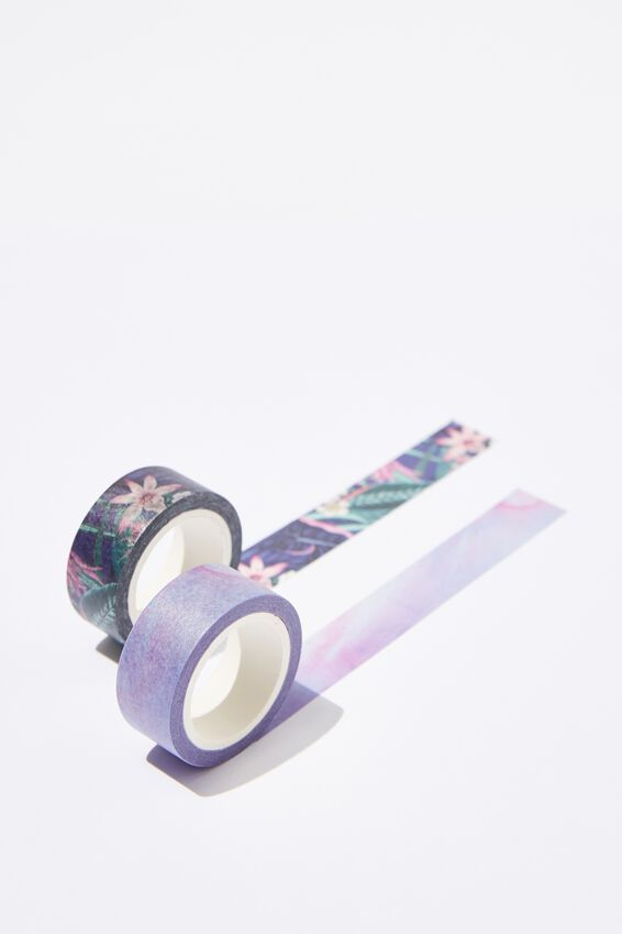 Washi Tape 2Pk, RESORT FLORAL COMBO