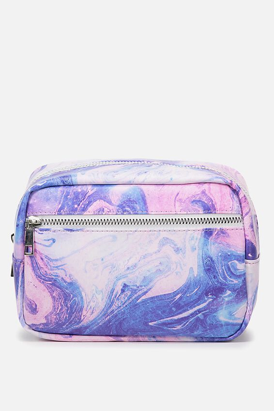 Multi Zip Cosmetic Case, MERMAID MARBLE