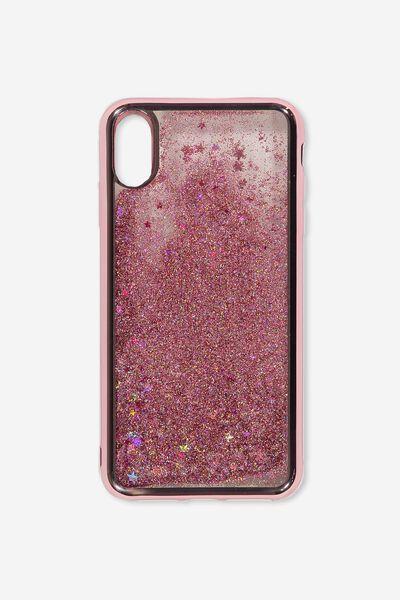 Shake It Phone Case Iphone Xs Max, ROSE GOLD GLITTER