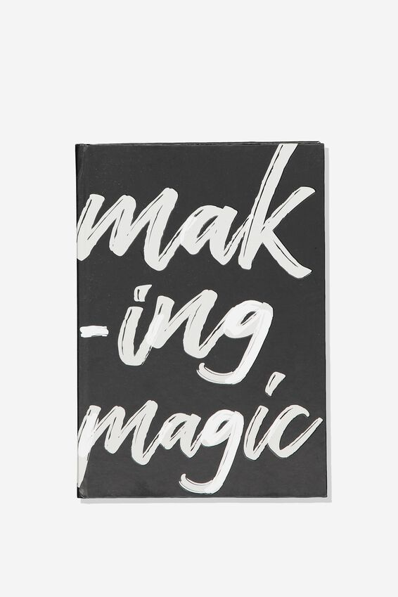 A5 High Shine Notebook, BLACK MAKING MAGIC