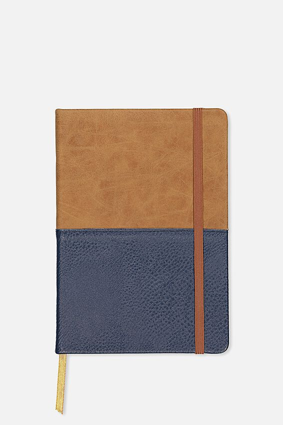 A5 Buffalo Journal, NAVY & TAN