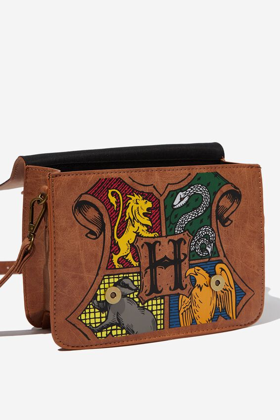 Harry Potter Mini Buffalo Satchel Bag, LCN WB HPO HOGWARTS CREST