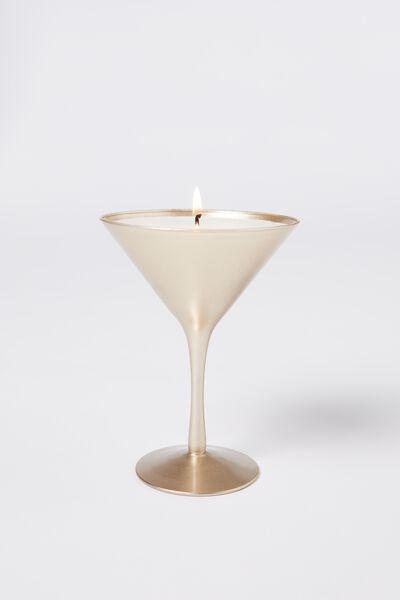 Large Shaped Candle, GOLD MARTINI!