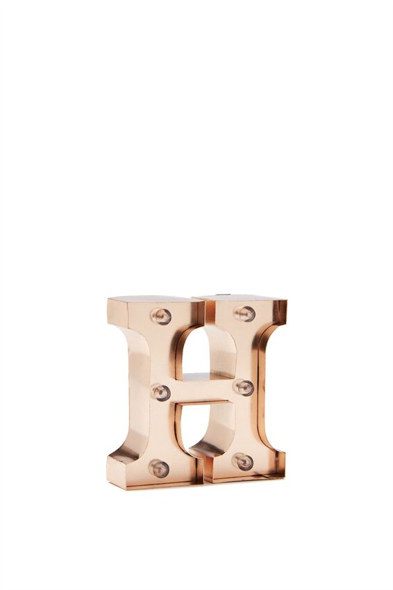 Mini Marquee Letter Lights 10cm, ROSE GOLD H