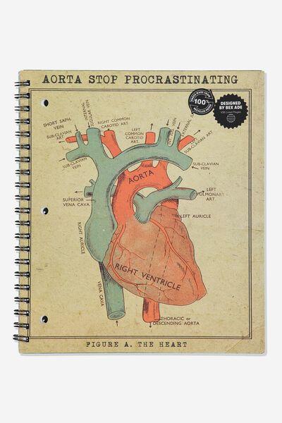 College Ruled Campus Notebook, AORTA