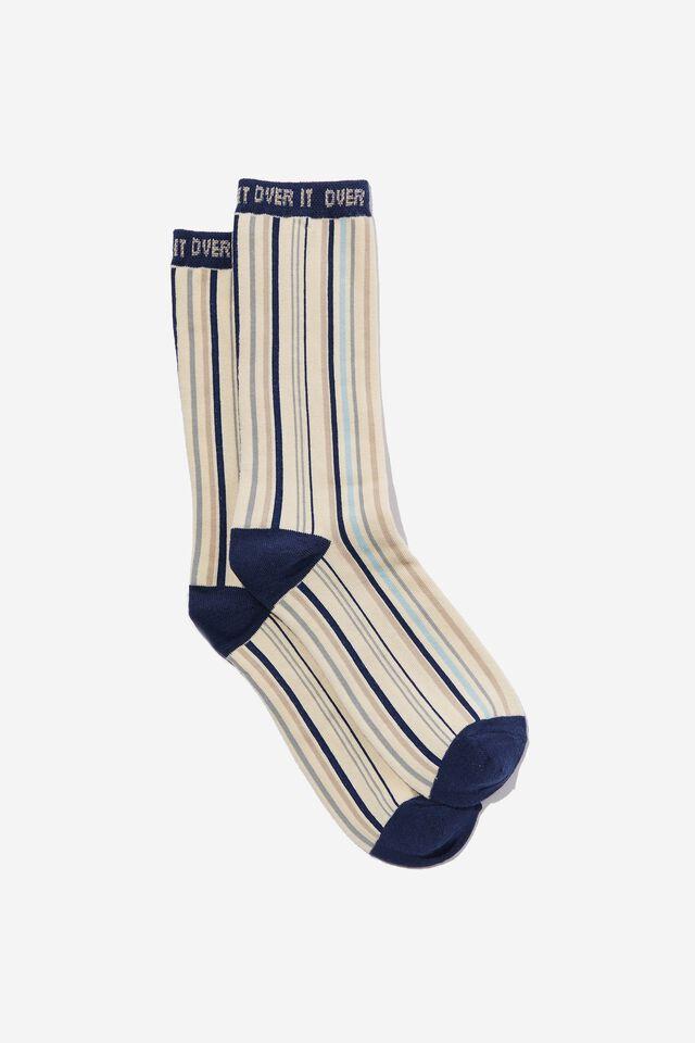 Socks, OVER IT STRIPE 1