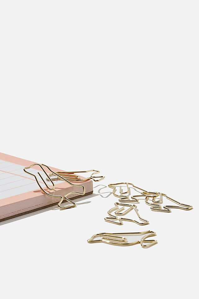 Shaped Paper Clips, GOLD BIRD