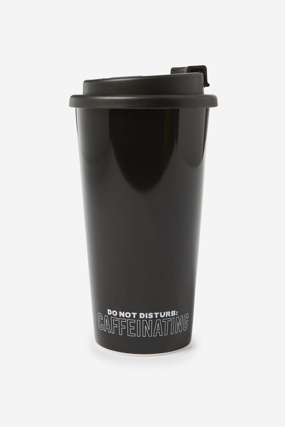 Printed Travel Mug, CAFFINATED