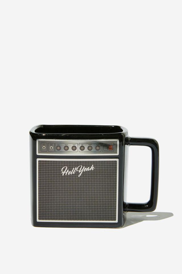 Shaped Mug, AMP BLACK