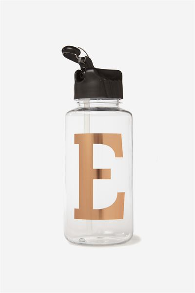 Alphabet Drink Bottle, ROSE GOLD E
