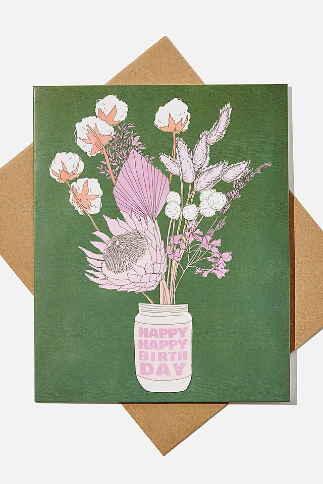 Nice Birthday Card, RG AUS NATIVE FLORALS