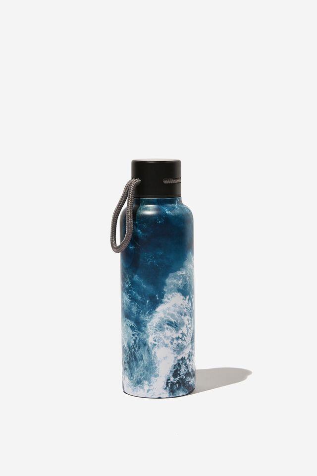 Boxed Metal Drink Bottle, WAVE BREAK
