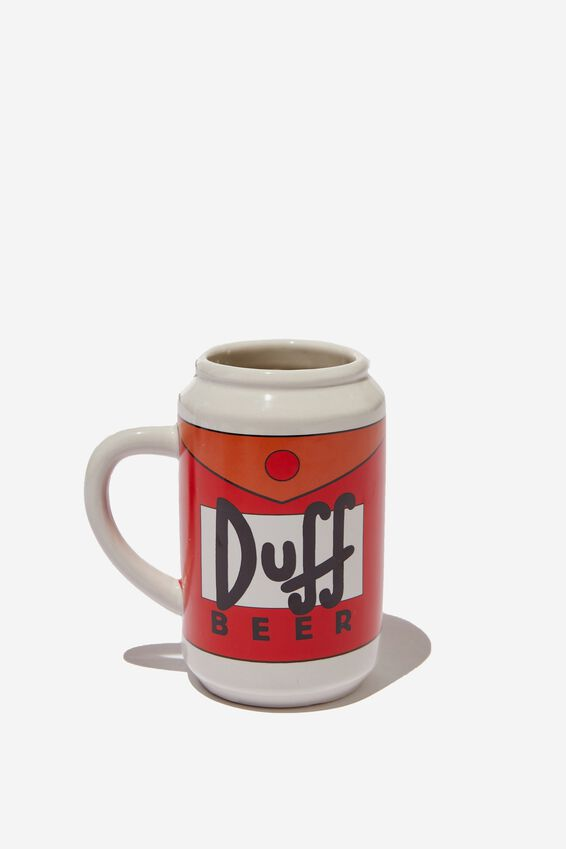 The Simpsons Novelty Shaped Mug, LCN SIMPSONS DUFF BEER!