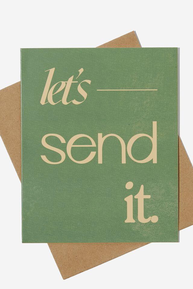 Congratulations Card, LETS SEND IT GREEN