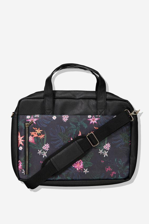 "Take Charge Laptop Bag 15"", JUNGLE FLORAL"