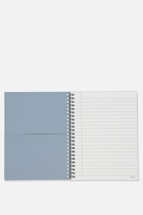 A5 Spinout Notebook Recycled, BE PRODUCTIVE BLUE
