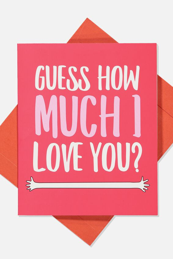 Premium Love Card, GUESS HOW MUCH