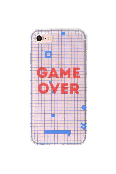 Transparent Phone Cover 7, 8, GAME OVER GRID