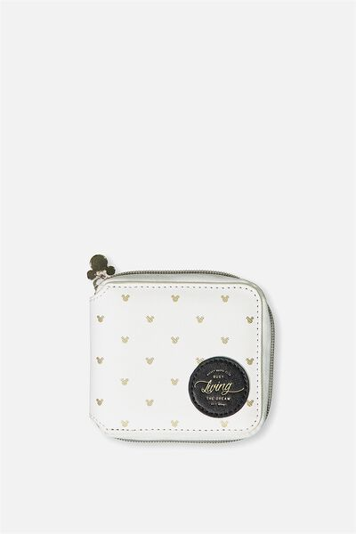 Everyday Wallet, LCN WHITE & GOLD MICKEY
