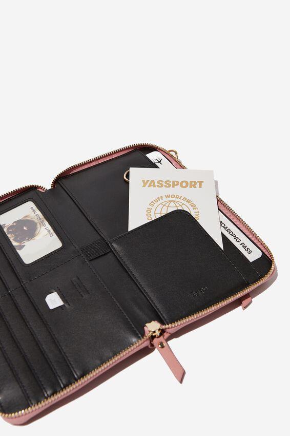 X-Body Travel Wallet, DUSTY PINK