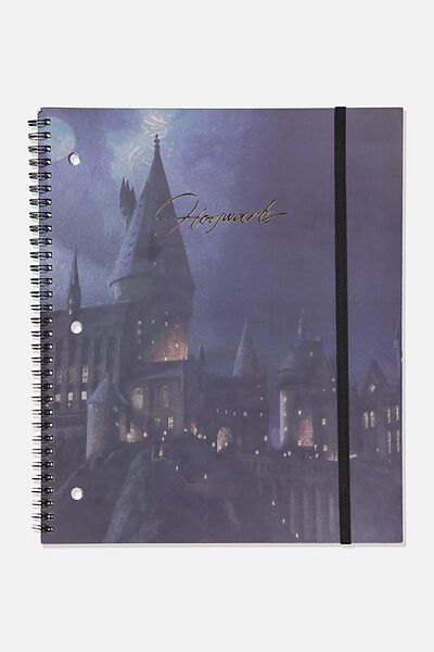 College Ruled Spinout Notebook V, LCN WB HPO HOGWARTS