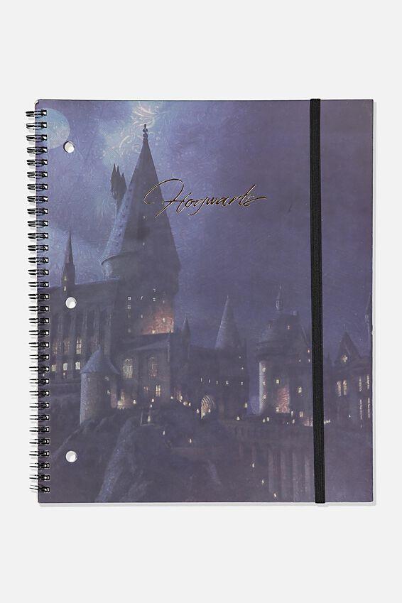 College Ruled Spinout Notebook V, LCN WB HPO HOGWARTS