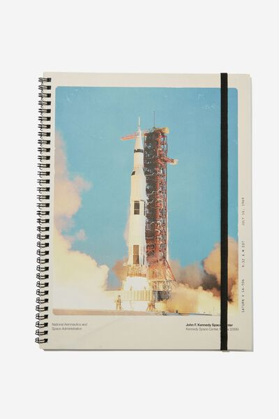 A4 Spinout Notebook Recycled, LCN NAS SHUTTLE LAUNCH