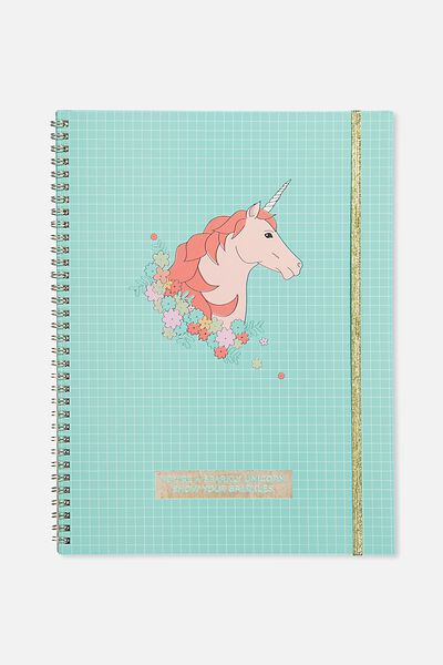 A4 Spinout Notebook - 120 Pages, GRID UNICORN
