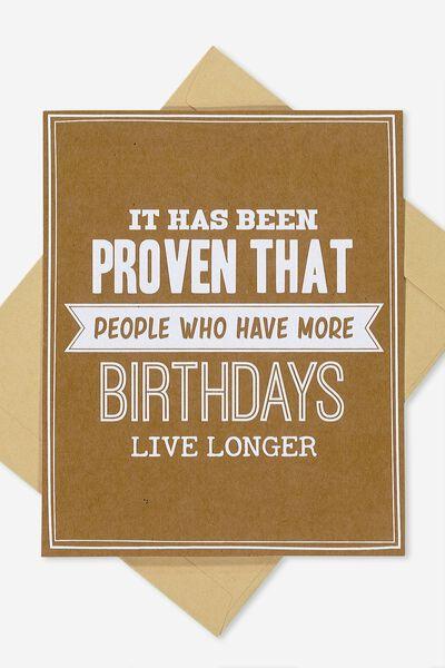Nice Birthday Card, LIVE LONGER